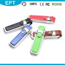 Metal Adge cinto de couro USB Flash Drive para Laptop (EL006)