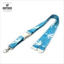 Promocional barato color cuello poliéster cordón con hebilla de liberación blanca