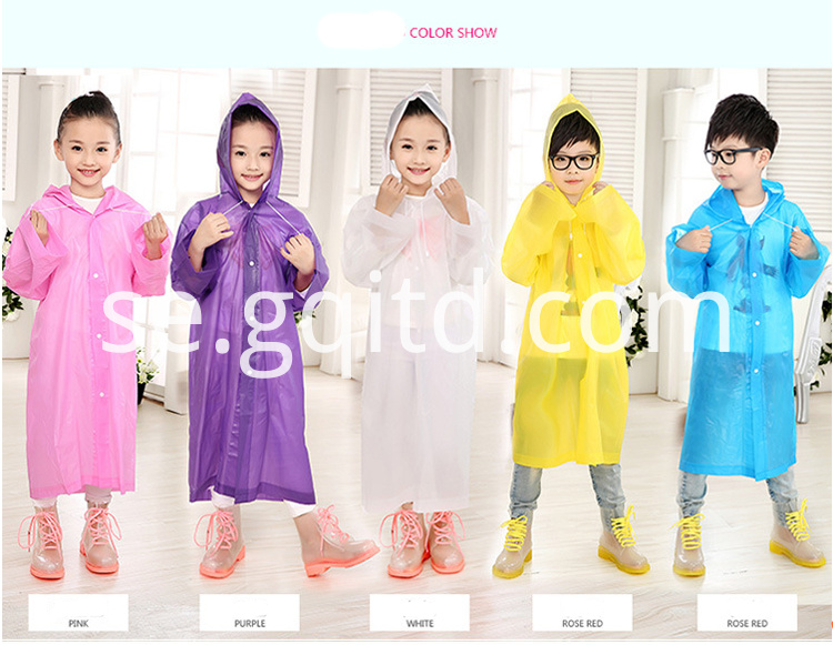 children disposable raincoat