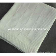 Couverture en tricot 100 % coton doux