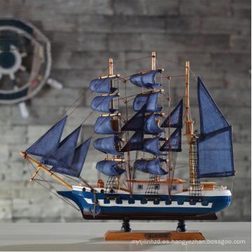 al por mayor arte de barco de madera en miniatura