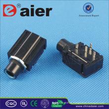 Daier 4 pinos PCB tipo estéreo Jack