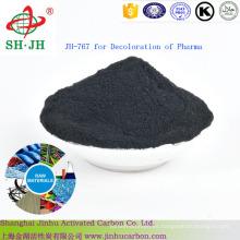 Carbón Activado en Polvo para Decoloración de Materias Primas Farmacéuticas