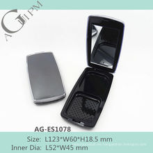 Caliente venta Rectangular compacto polvo caja con espejo AG-ES1078, empaquetado cosmético de AGPM, colores/insignia de encargo