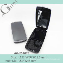 Hot sale Rectangular Compact Powder Case With Mirror AG-ES1078, AGPM Cosmetic Packaging , Custom colors/Logo