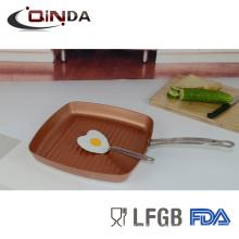 revestimiento de cobre bandeja de grill de 28 cm