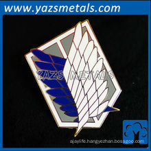 customize Attack on Titan metal pin/badges with enamel