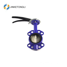 JKTLWD006 wafer type cast iron temperature butterfly valve