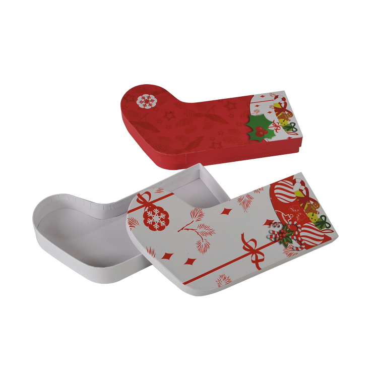 Custom Design Sock Shaped Christmas Gift Box 1