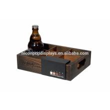 Branded de 6 botellas de bebidas de exhibición mostrador de punto de venta Pequeño minorista de madera rústica Display Stand