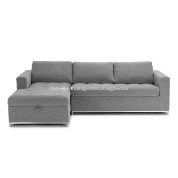 Sofa sectionnel gauche Soma Dawn gris