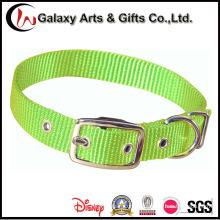 Пользовательские Обычный Одноместный Регулируемый Зеленый Pet Нейлон Собака Воротник