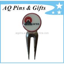 Outil personnalisé de golf Divot avec logo d'impression offset (golf-13)