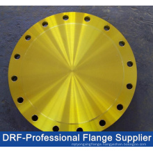 Yellow Painted Blind Flange, DIN Flange