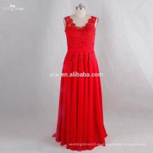RSE719 Sexu Atrás vestido de noche abierto rojo Sexy Mature Party Dress