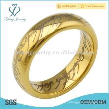 Eterno, amor, padrão, tungstênio, anéis, par