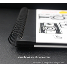 Модный черный inpage 12 x 18 фотоальбомы