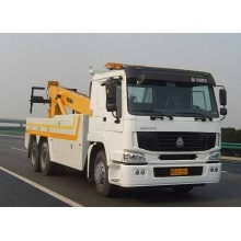 HOWO used flatbed rollback tow truck for sale