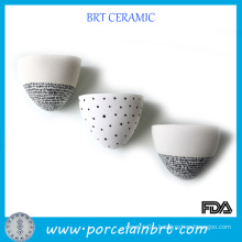 Create Ceramic Wall Planter with Black Dots