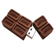 4GB Chocolate USB Stick with PayPal Payment, Free Logo Print, Full/Authentic Capacity, Original Chip