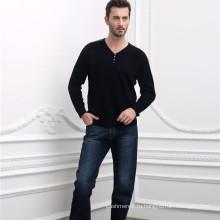весна мужчины V шеи кашемир жаккард вязаный пуловер свитер