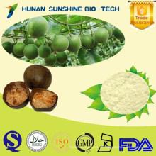 natürlicher botanischer Extrakt Natürliches Süßungsmittel / Mogrosides, Mogrosid V / Mönch-Frucht-Auszug Puder Luo Han Guo-Auszug Puder