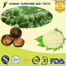 natural botanical extract Natural Sweetener/Mogrosides, Mogroside V / Monk Fruit Extract powder Luo Han Guo Extract powder