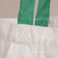 La bolsa de asas respetuosa del medio ambiente de la lona del bolso de ultramarinos del algodón