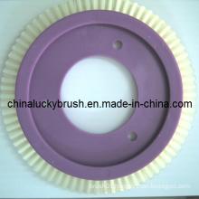 White Nylon Material Round Textile Brush (YY-254)