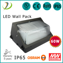 ไฟ LED Waterproof Wall Pack เกรด 60W IP65