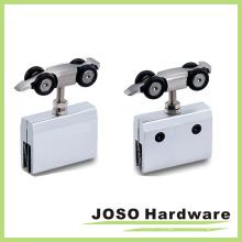 Sistema de rolo de porta deslizante de vidro sem moldura Rolo de suspensão de zinco (BA5003C)