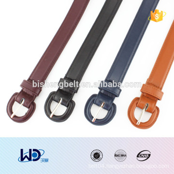 2016 lady fashional D rings fake leather belt