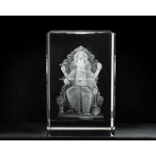 3D Lalbagcha Raja Crystal for Hinduism Religious Souvenir (R3020)