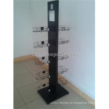 Novo Design Floorstanding 2-Sided Cap Produtos Display Rack, Metal Sport Ball Cap Display Rack