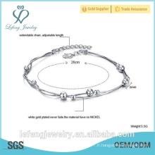 Bijoux fantaisie bijoux faits à la main bracelet en dentelle en or blanc pour femme