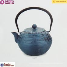Bule chinês do ferro fundido do esmalte 1200ML com infusor de aço inoxidável