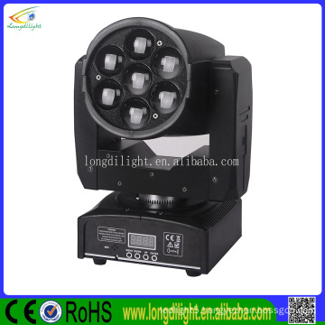 2016 led moving zoom 7x12 led moving head equipments producing 4in1 led moving head
