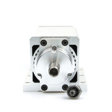 0.7kw Er11 Square Air Cooled Spindle Motor 110V/220V 3phase Stainless Steel 11000rpm 7.3A 400Hz for CNC Engraving Router Milling Cutting Machine