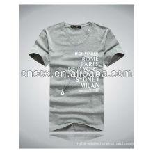 13ST1012 Good quality cotton V neck men's t shirt