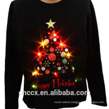 14STC8055 2016 high quality christmas sweater with LED lights