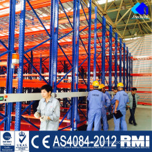 Cool room galvanized drive in pallet racking system electric mobile rack