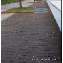 Colorant Plancher en bambou de structure tissée en plein air
