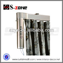 220v motorized motor remote control electric curved curtain track/curtain rail