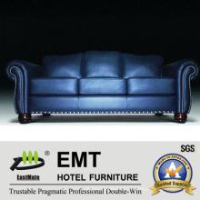 Moda Design de cores Sofá de couro conjunto de sofá de hotel (EMT-SF34)