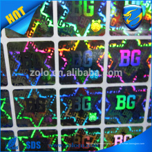 China Supply Cheap Hologram Stickers of Custom Design, alta qualidade Laser Print Holographic Sticker