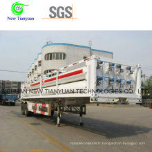 Remorque à gaz haute pression CNG de 6 voies pour la station de gestation CNG