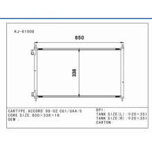 Auto condensador de aluminio para Accord'98-02 Cg1 / Ua4 / 5