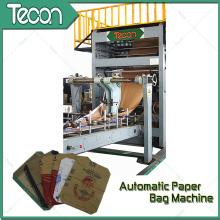 Bolsa de papel Kraft que hace la máquina con la impresión de 4 colores en línea