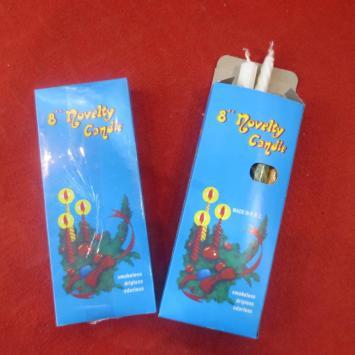 "Jeddah 22G Blue Box 8"" Novelty Sprial Candle"