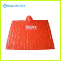 Promotional Red PE Disposable Rain Poncho